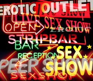 Sexshop Leuchtschriften